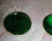 Green Handmade Earrings- Stunning