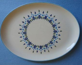 Vintage 1950s Marcrest Stetson Swiss Alpine Oval Platter