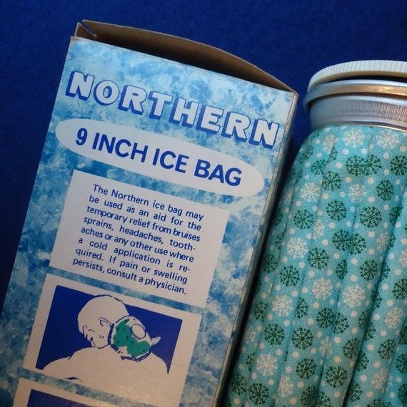 Vintage Ice Bag with  Retro Snowflake Design 1970s 1980s