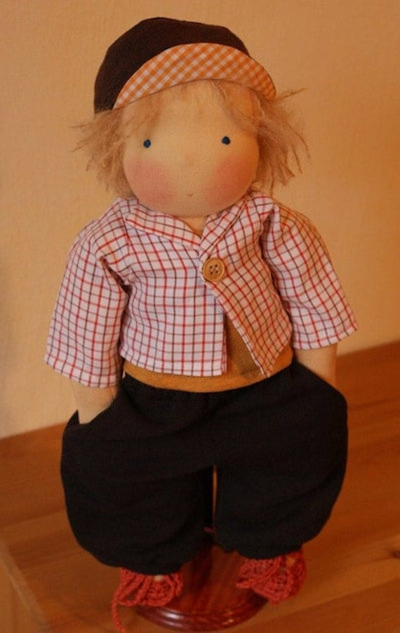 Mariengold Doll Lino 16 inch / 40 cm with additional Clothing