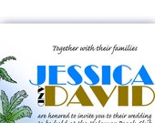 Desert Island Printable Wedding Invitation
