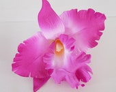 6 PCS. 6.00 inches Purple Orchid Silk Rose flower Craft and Decoration