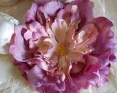 Lavender Large Flower Clip