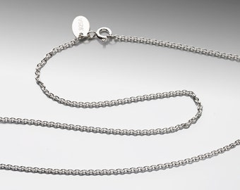 18 inch - 1.7mm Cable Chain Argentium Silver