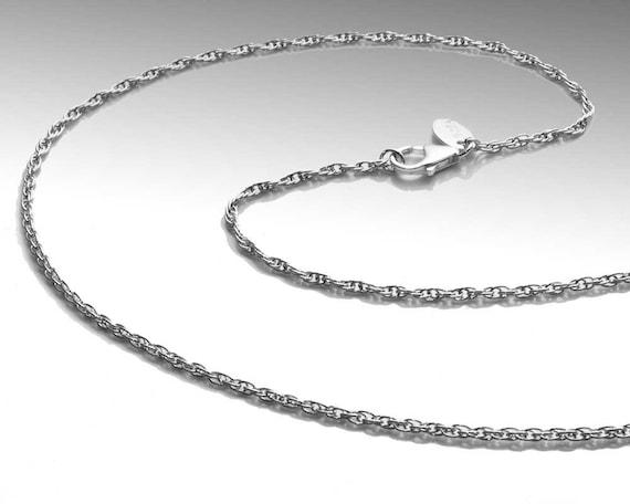 1.9mm Rope Chain - Argentium Silver