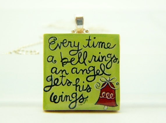 Everytime A Bell RIngs Handmade Pendant Necklace & Chain