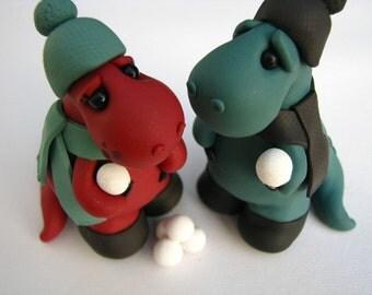 Dino love custom wedding cake topper