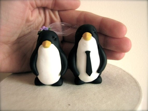DEPOSIT for custom Penguin wedding cake topper