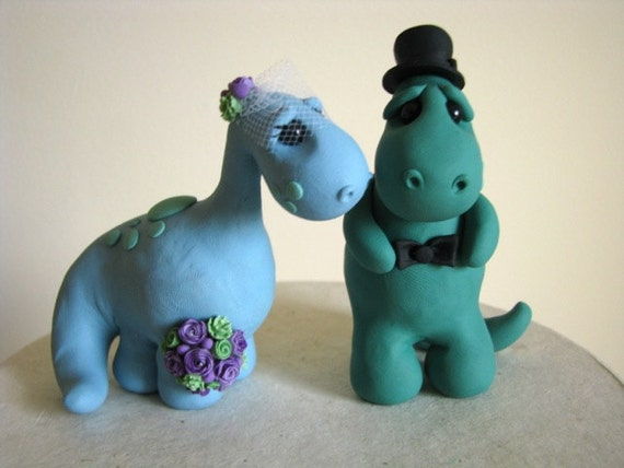 DEPOSIT for Dino Love wedding cake topper