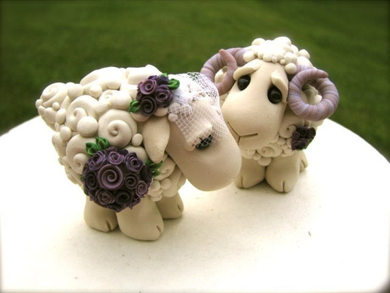 RESERVED I Love Ewe Custom Wedding Cake Topper