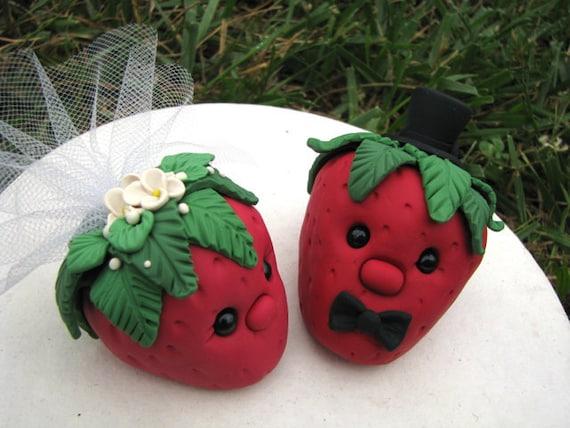 Berry Love custom wedding cake topper RESERVED