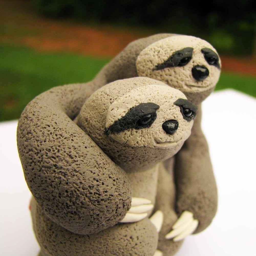 Sloth Love Wedding Cake Topper