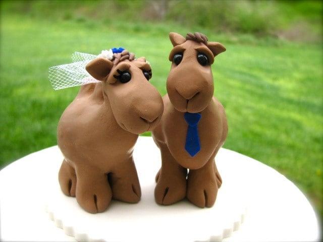 Camel Love Custom Wedding Cake Topper Reserved For By