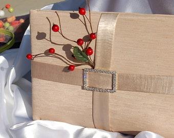 SALE SALE SALE Flower Girl Basket and Guest Book Set