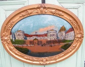 Reverse Painting Palace at Versailles Bubble Glass Frame