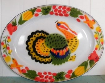 Enamelware Turkey Platter Perfect for your Holiday Table