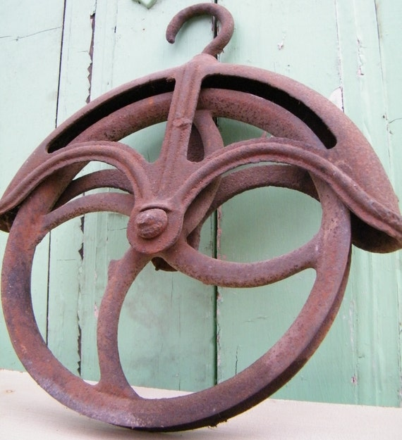 Architectural Salvage Cast Iron Pulley