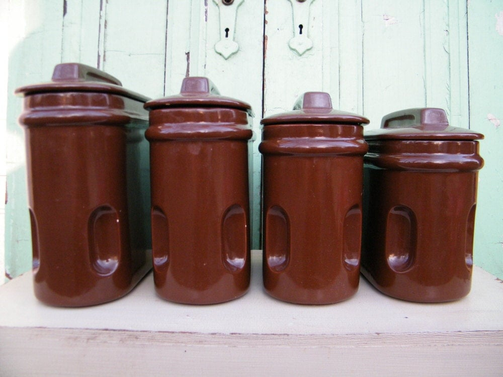Vintage Ceramic Kitchen Canisters vintage ceramic