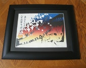 On The Prowl Woodblock Print UNFRAMED