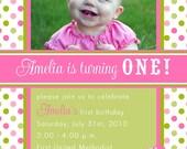 Printable Invitation Design - Pretty Pretty Cupcake Theme - DIY Printables by The Paper Cupcake