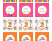 Printable Party Toppers - Sweet Shoppe Theme - DIY Printables from The Paper Cupcake