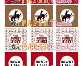 Printable Party Toppers - Giddy Up Lil Cowboy Collection - DIY Printables from The Paper Cupcake