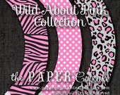 Printable Cupcake Wrappers - Wild About Pink Design - (INSTANT DOWNLOAD) by The Paper Cupcake