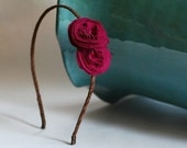 maddie . raspberry (fabric flower headband)