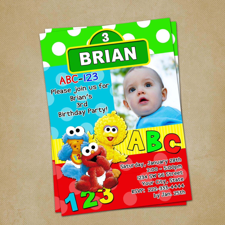 Baby Sesame Street Birthday Invitation You by ...