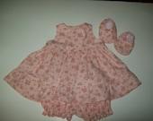 Ready To Ship  Baby Girl Sundress 4 pc Set  Size 0-3 mon