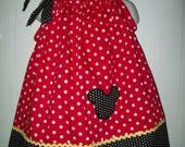 Mickey Mouse Custom Boutique Pillowcase Dress  Sizes Availible Newborn - 6