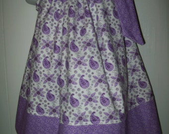 Baby Girl  Purple Paisley Pillowcase Dress  Sizes Availible Newborn - 6yr