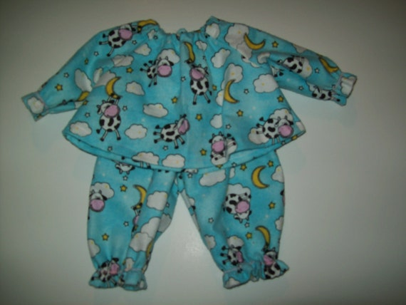 """Baby Alive  And Waldorf Doll Clothes Adorable Pajamas 12"""" Or 15"""""""