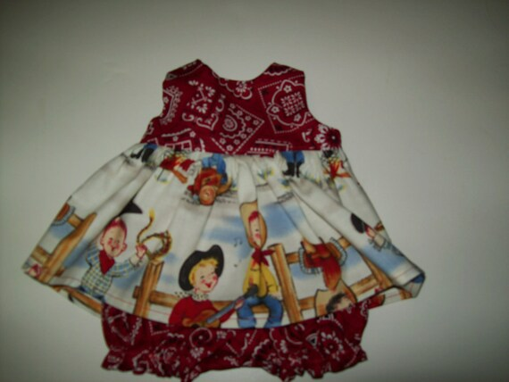 "Baby Alive  And Waldorf Doll Clothes Adorable Dress 10"" 12"" Or 15"" Bandana Cowgirls"