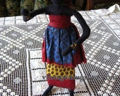 BLACK AMERICANA VINTAGE  DOLL WOMAN WITH BABY HANDMADE