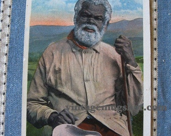 Black Americana VINTAGE POSTCARD Uncle Tom Original Unused