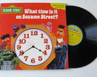 Sesame Street vintage vinyl lp What time is it Record