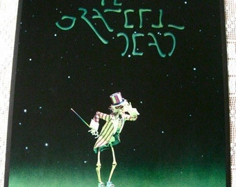 Grateful Dead Original Movie Poster 1977 Round Reel EXC Mint Skeleton