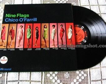 Chico O'Farrill  COOL Jazz Mono Lp Vinyl Record  Sixties NINE FLAGS
