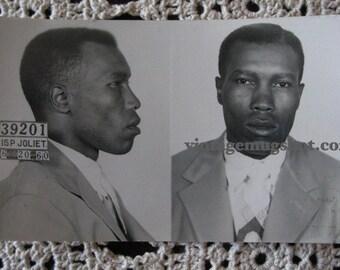 1955 Chicago Police Department Criminal MUG SHOT Rapist Joliet Prison Sex Crime