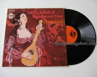 SHAKESHPEARE'S TIME  Sixties Lp Vinyl Record Bawdy Ballads Sexy Ed McCurdy EXC