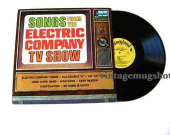 DISNEY Vintage Vinyl lp  Disneyland Record Electric Company 1973 NM- Clean