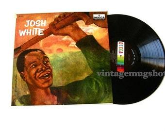 JOSH WHITE   Blues Lp record Decca Records David Stone Martin Cover NM-