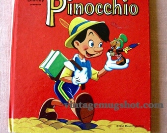 PINOCCHIO Walt Disney Book 1961 Tell a Tale Orig Hardcover Exc