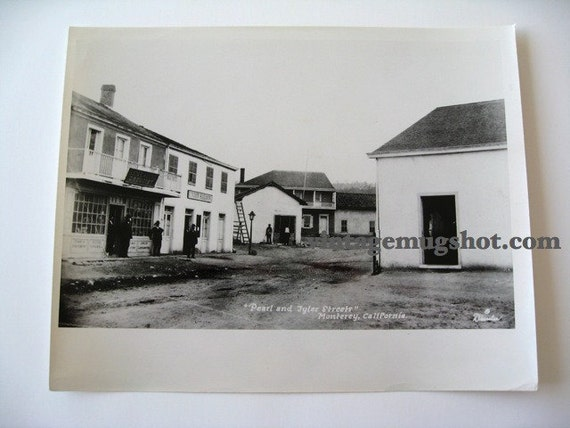Monterey Vintage  Photograph  8 x 10 Albert Dressler 1800s Saloon and Drug Store