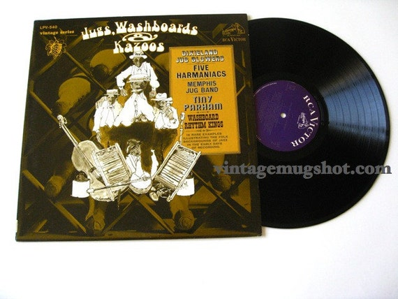Jug Washboards and Kazoos LP  Vintage Series RCQ Vinyl Record