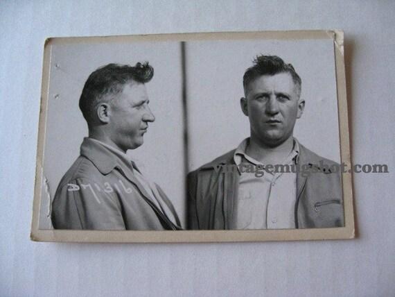 1949 Chicago Police Department Criminal MUG SHOT Man with funny hair