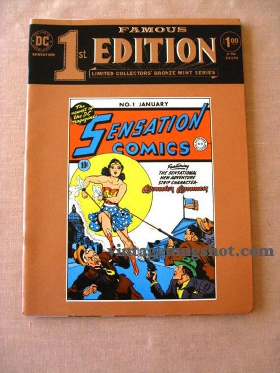 SENSATION Comics WONDER WOMAN  Special 1st Ed Lg 1974 Comic Book