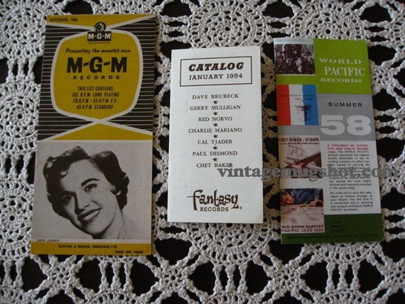 Three Fifties  Jazz Catalogs  Fantasy MGM World Pacific Brubeck Baker Exc
