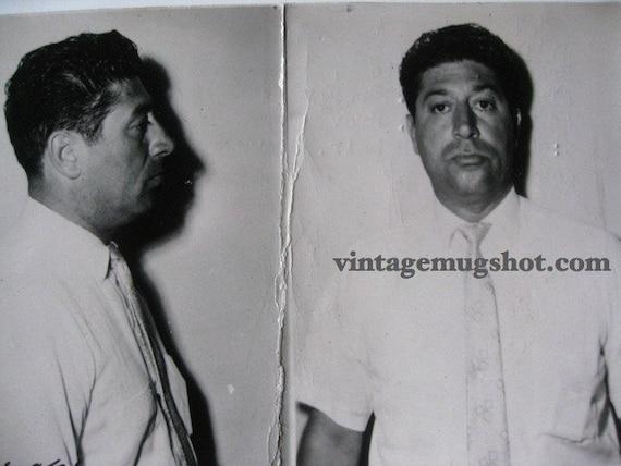 1960's  Providence Rhode Island Police Department Criminal MUG SHOT Man in white Tie